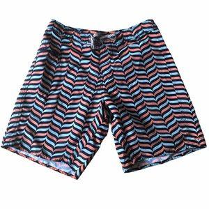Patagonia men's patterned nylon board shorts
